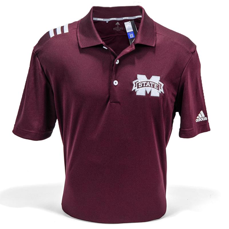 más lejos Resignación De hecho  Adidas 2019 3 Stripe Short Sleeve Polo | Campus Book Mart
