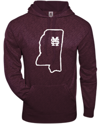 Badger Embossed Performance State of Mississippi Fleece Lined Hoodie
