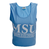 Comfort Colors MSU Tanktop White Letters