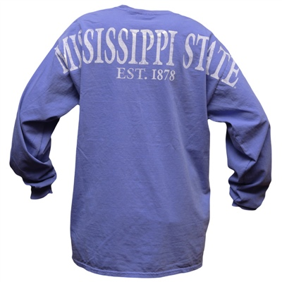 Comfort color mississippi state long sleeve tee campus for Kmart shirts for employees