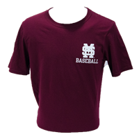 Russell Interlocking MS Crossing Bats with Plate Short Sleeve Tee