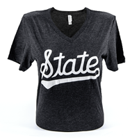 Canvas V-Neck Vintage State Script