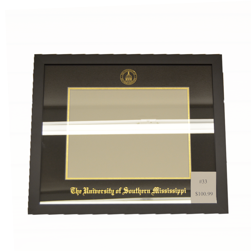University Frames #33 Manhattan Black With Gold Foil | Campus Book Mart