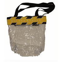 Striped Clear Stadium Tote
